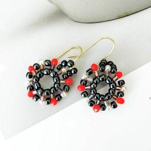 Jewelry - Handmade fireworks inspired earrings
